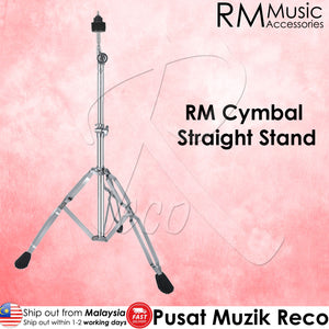 RM SS200 Double Braced Solid Drum Cymbal Straight Stand - Reco Music Malaysia