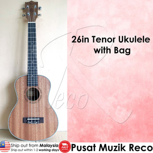 RM 26in Tenor Ukulele with Free Bag - Reco Music Malaysia