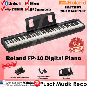 Roland FP-10 88 keys Black Digital Piano with Roland DP-2 Pedal - Reco Music Malaysia