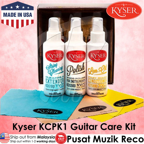 Kyser KCPK1 Guitar Maintenance Care Kit (Made in USA) - Recomusic