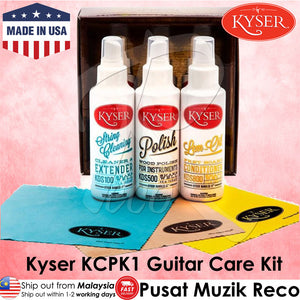 Kyser KCPK1 Guitar Maintenance Care Kit (Made in USA) - Reco Music Malaysia