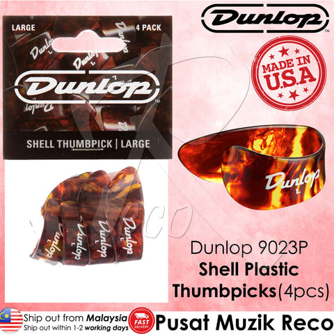 Dunlop 9023P Shell Plastic Guitar Thumbpicks Large (4pcs) - Recomusic