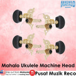 Mahalo Ukulele Machine Head Set of 4 (Black / White) - Recomusic