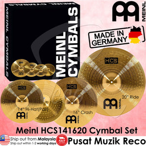 Meinl HCS141620 HCS Cymbal Set (14in Hi-Hat, 16in Crash, 20in Ride) (Made in Germany) - Reco Music Malaysia