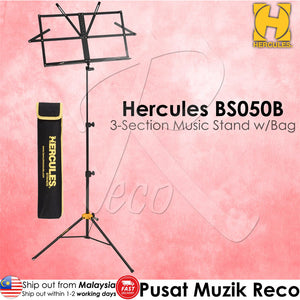 Hercules BS050B 3-Section Music Stand With Bag - Reco Music Malaysia