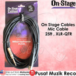 OSS MC12-25HZ Microphone Mic Cable 25ft XLR-QTR - Recomusic