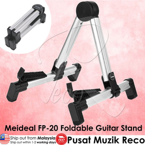 Aluminum Portable Foldable Guitar A-Frame Stand Electric Acoustic Guitar Ukulele Bass - Reco Music Malaysia