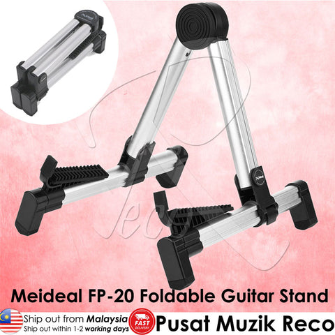 Aluminum Portable Foldable Guitar A-Frame Stand Electric Acoustic Guitar Ukulele Bass - Recomusic