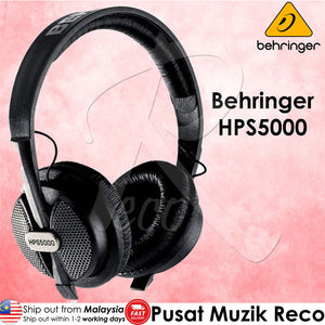 Behringer HPS5000 Hi Performance Studio Headphones - Reco Music Malaysia