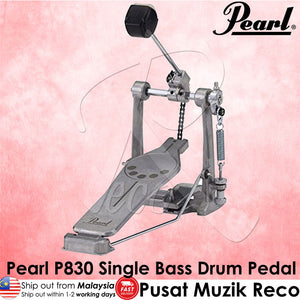 Pearl P830 Demon Style Longboard Single Bass Bass Pedal - Reco Music Malaysia