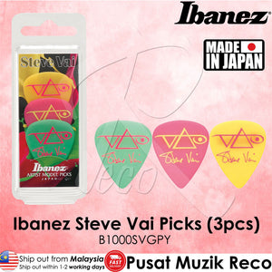 Ibanez B1000SVGPY Steve Vai Signature Picks 3pcs (Made in Japan) - Recomusic