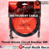 Planet Waves Circuit Breaker Guitar Cable 20ft RA (PW-AGRA-20) - Recomusic