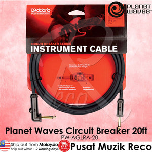 Planet Waves Circuit Breaker Guitar Cable 20ft RA (PW-AGRA-20) - Reco Music Malaysia