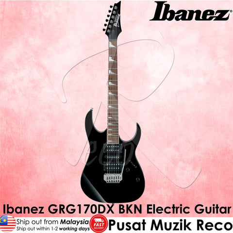 Ibanez Electric Guitar GRG170DX BKN - Black Night - Recomusic