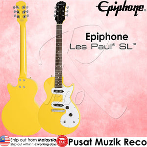 Epiphone Les Paul SL Electric Guitar SY - Sunset Yellow - Reco Music Malaysia