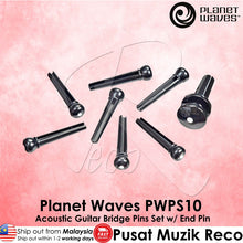 Load image into Gallery viewer, Planet Waves PWPS10 Acoustic Guitar Bridge Pins End Pin Set - Reco Music Malaysia