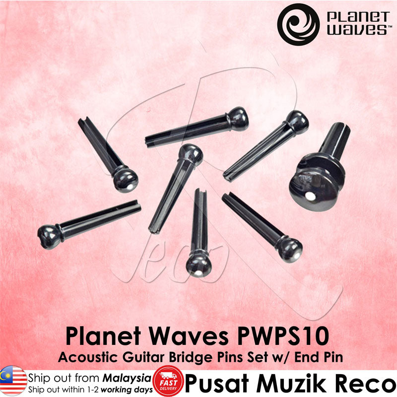 Planet Waves PWPS10 Acoustic Guitar Bridge Pins End Pin Set - Reco Music Malaysia