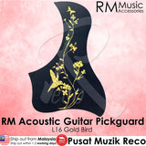 RM Acoustic Guitar Pickguard - L16 Gold Bird - Recomusic