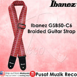 Ibanez GSB50 C6 Braided Guitar Strap Red - Recomusic