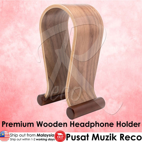 RM Premium Wooden Headphone Holder - Recomusic