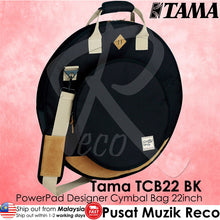 Load image into Gallery viewer, Tama TCB22 BK Powerpad Designer Cymbal Bag Black - Recomusic