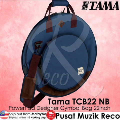 Tama TCB22 NB Powerpad Designer Cymbal Bag Navy Blue - Recomusic