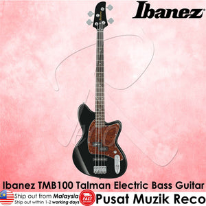 Ibanez Talman TMB100 BK 4 String Electric Bass Guitar - Black - Reco Music Malaysia