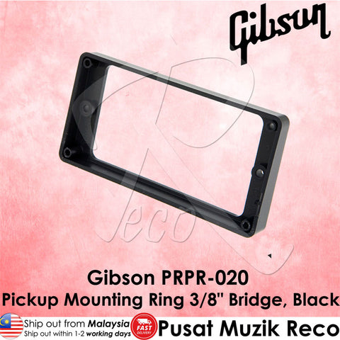 "Gibson PRPR-020 Guitar Pickup Mounting Ring 3/8"" Bridge, Black - Recomusic"