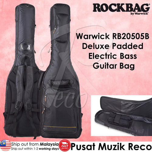 Warwick RB20502B Deluxe Padded Electric BASS Guitar Bag - Reco Music Malaysia