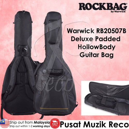 Warwick RB20507B Deluxe Line Padded Hollowbody Guitar Bag - Reco Music Malaysia