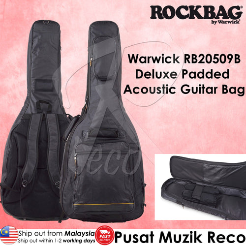 Warwick RB20509B Deluxe Padded Acoustic Guitar Bag - Reco Music Malaysia