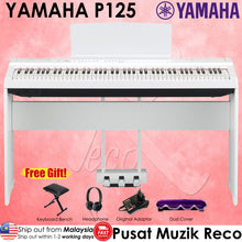 Load image into Gallery viewer, Yamaha P-125 88-Key Weighted Action Digital Piano - Reco Music Malaysia