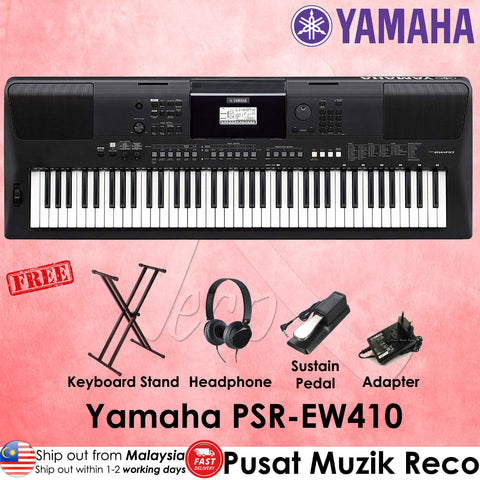Yamaha PSR-EW410 76 keys Portable Keyboard - Recomusic