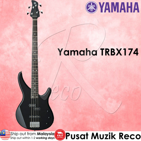 Yamaha TRBX174 Bk 4 String Electric Bass Guitar Black | Reco Music Malaysia