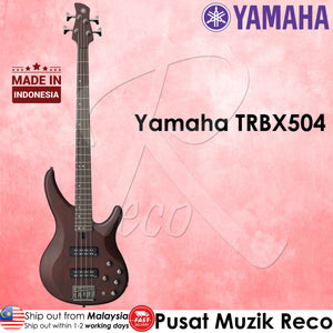 Yamaha TRBX504 TBN 4 String Premium Electric Bass Guitar Translucent Brown | Reco Music Malaysia
