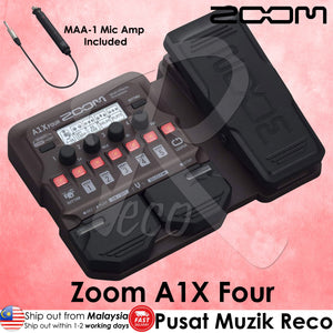 Zoom A1X Four Acoustic Instrument Multi Effect Processor With Mic Amp - Reco Music Malaysia