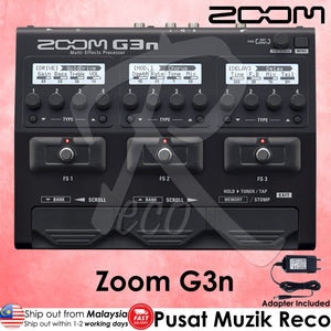 Zoom G3n Intuitive Multi-Effects Processor  - Reco Music Malaysia