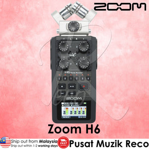 Zoom H6 6 Track Professional Handy Audio Recorder - Reco Music Malaysia