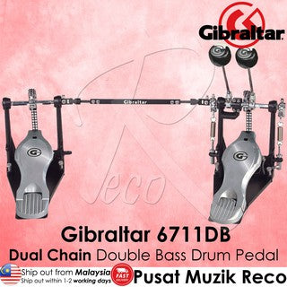 Gibraltar 6711DB Dual Chain Double Bass Drum Pedal | Reco Music Malaysia