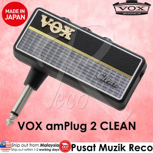 VOX AP2CL amPlug 2 Clean Guitar/Bass Headphone Amplifier - Reco Music Malaysia