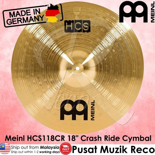 Meinl HCS18CR 18 inch Crash Ride Cymbal - Reco Music Malaysia