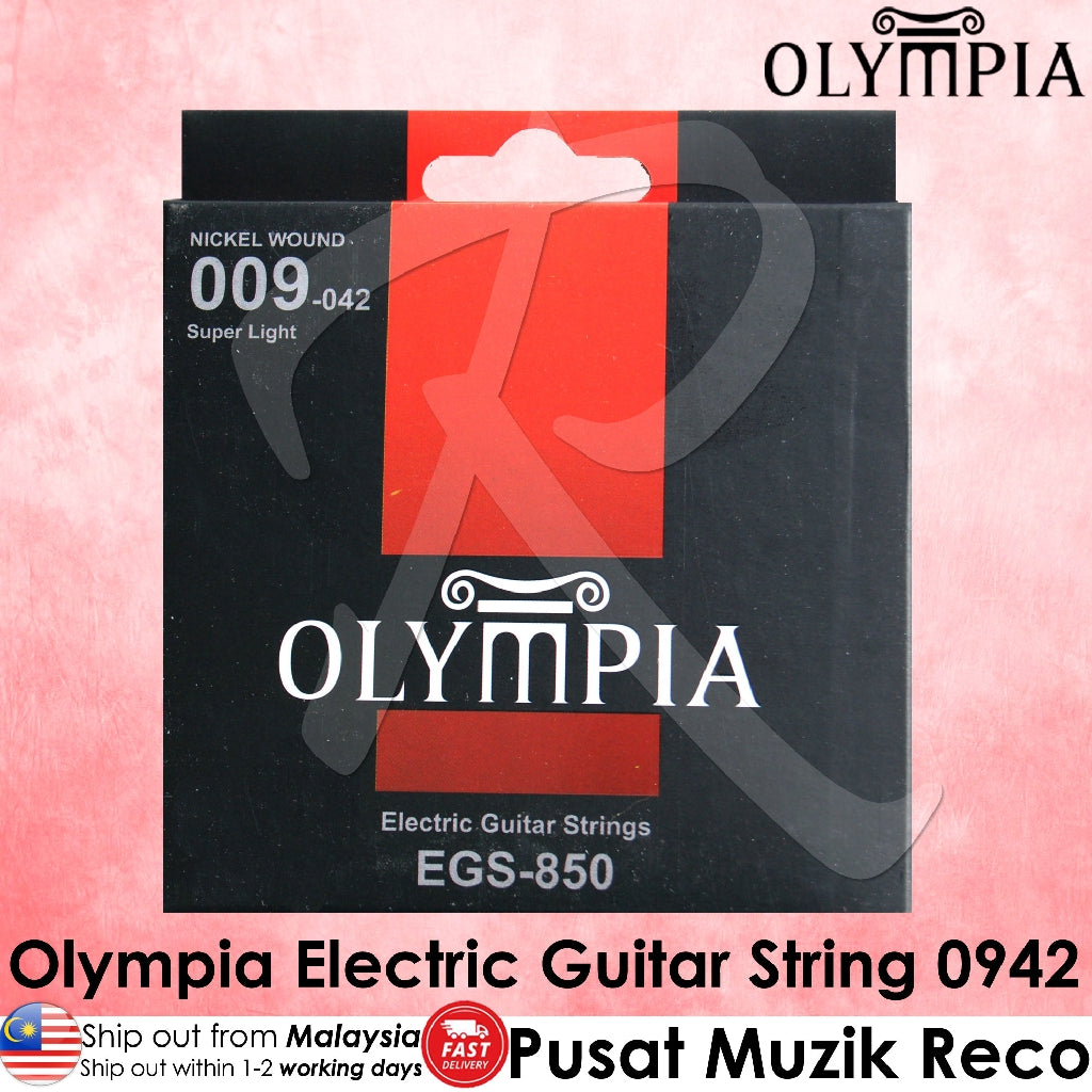 Olympia EGS-850 Electric Guitar String Set 09-42 - Reco Music Malaysia