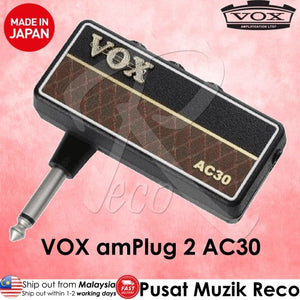 VOX amPlug 2 AC30 Headphone Guitar Amplifier - Reco Music Malaysia