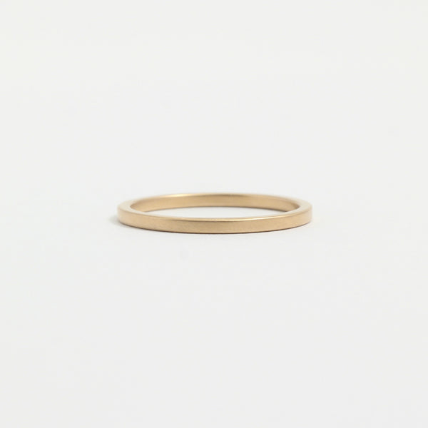 Yellow Gold Wedding Band - 1.5mm Wide - Flat - Matte