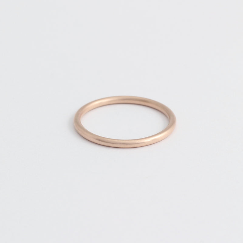Rose Gold Wedding Band - 1.5mm Wide - Rounded - Matte