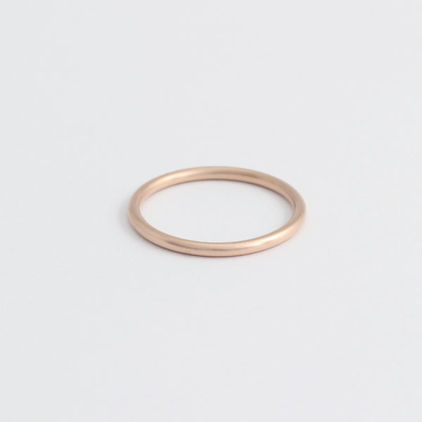 Rose Gold Wedding Band - 1.5mm Wide - Rounded - Polished
