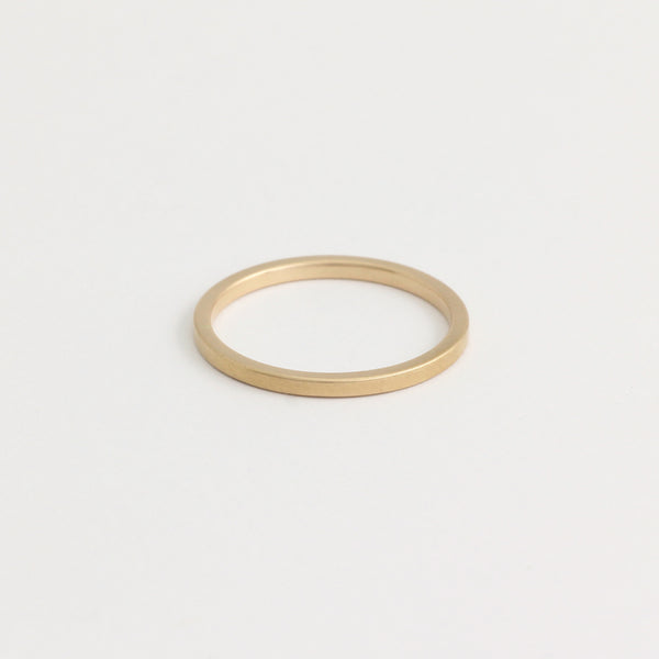 Yellow Gold Wedding Band - 1.5mm Wide - Flat - Polished