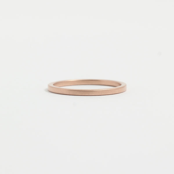 Rose gold Wedding Band - 1.5mm Wide - Flat - Matte