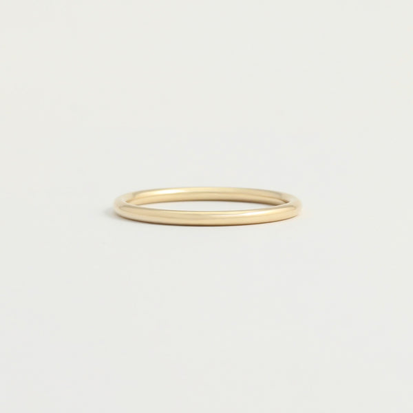 Yellow Gold Wedding Band - 1.5mm Wide - Rounded - Polished