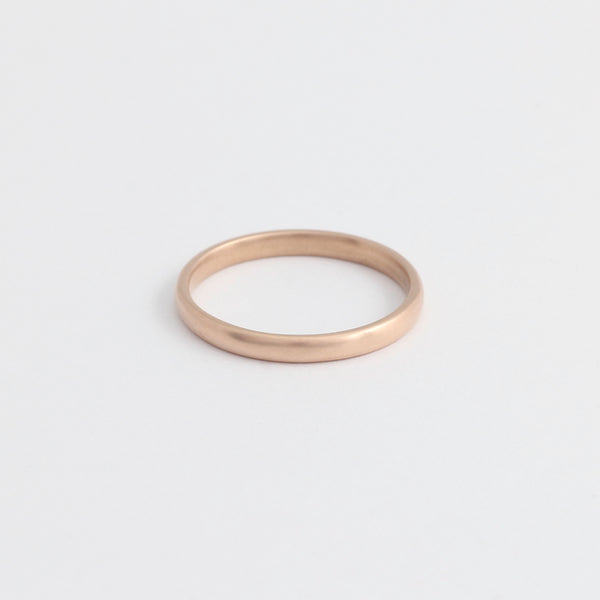 Rose Gold Wedding Band - 2mm Wide - Rounded - Matte